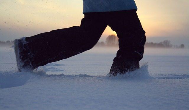 Schnee auf der Tartanbahn – raus aus der Komfortzone